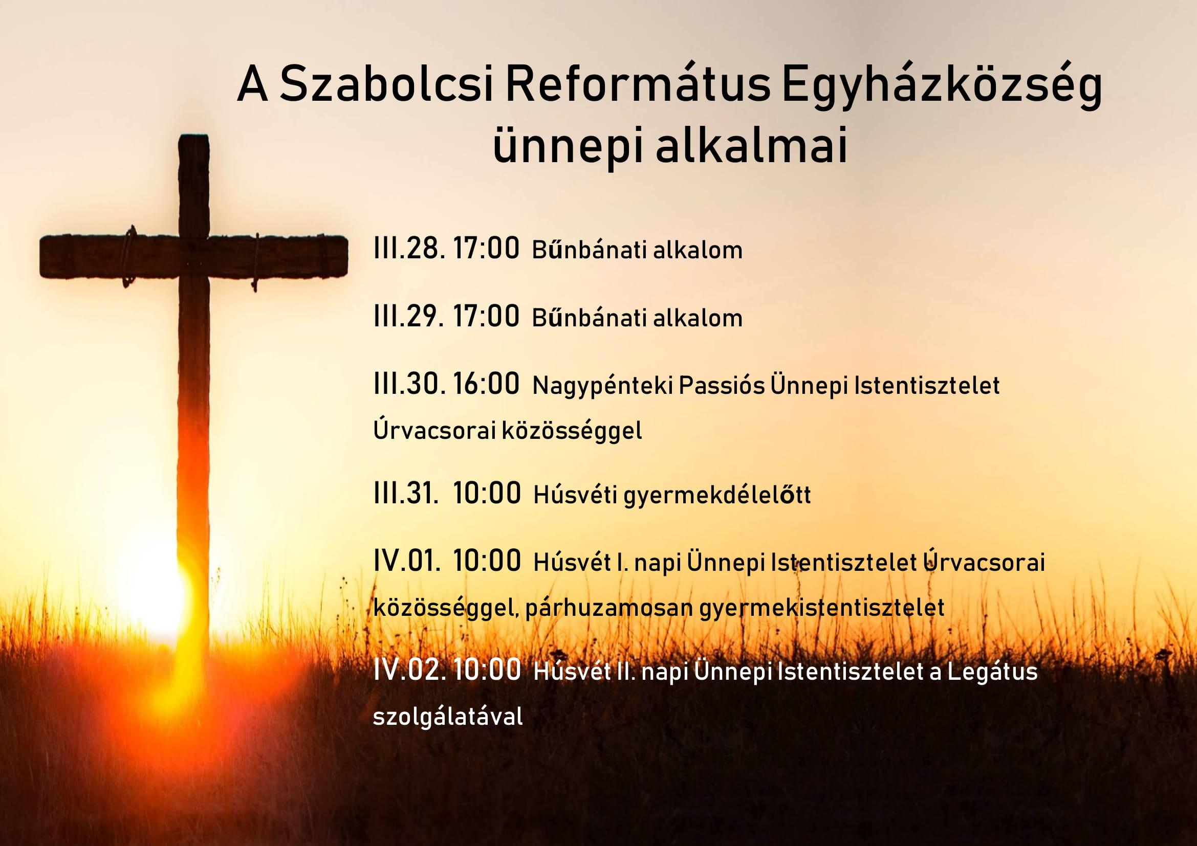 Húsvéti alkalmak Szabolcson 2018-1