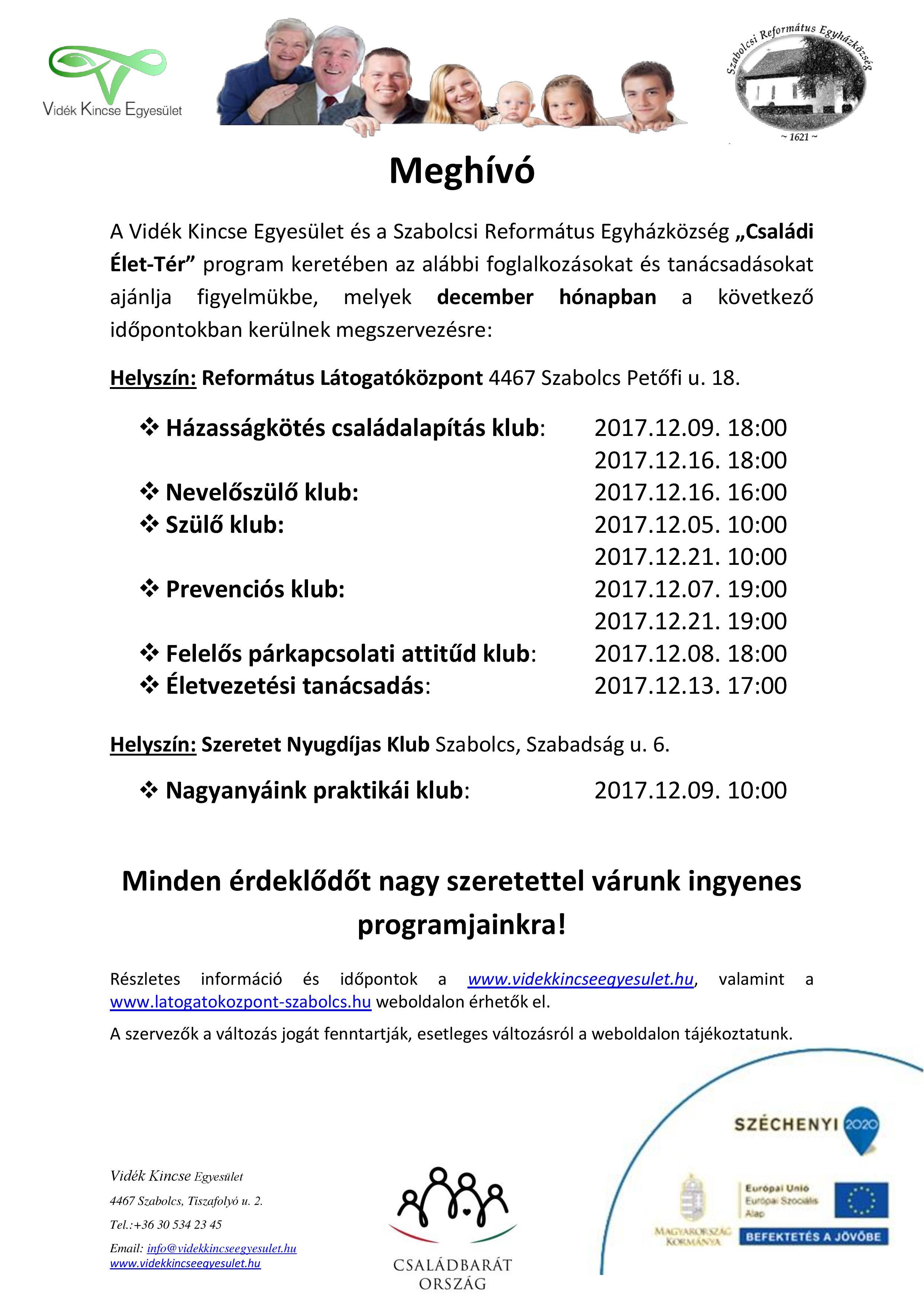 Meghívó Szabolcs 2017. december